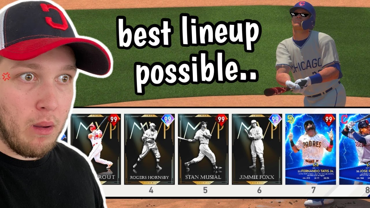 my opponent had the BEST LINEUP POSSIBLE in mlb the show.. I WAS SCARED!