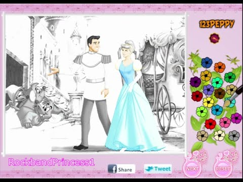 Cinderella Coloring Pages For Kids   Cinderella Coloring Pages Games    YouTube
