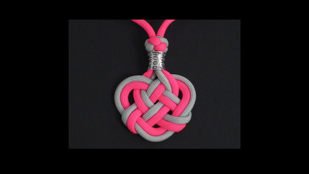 how to make the double celtic knot paracord medallion by