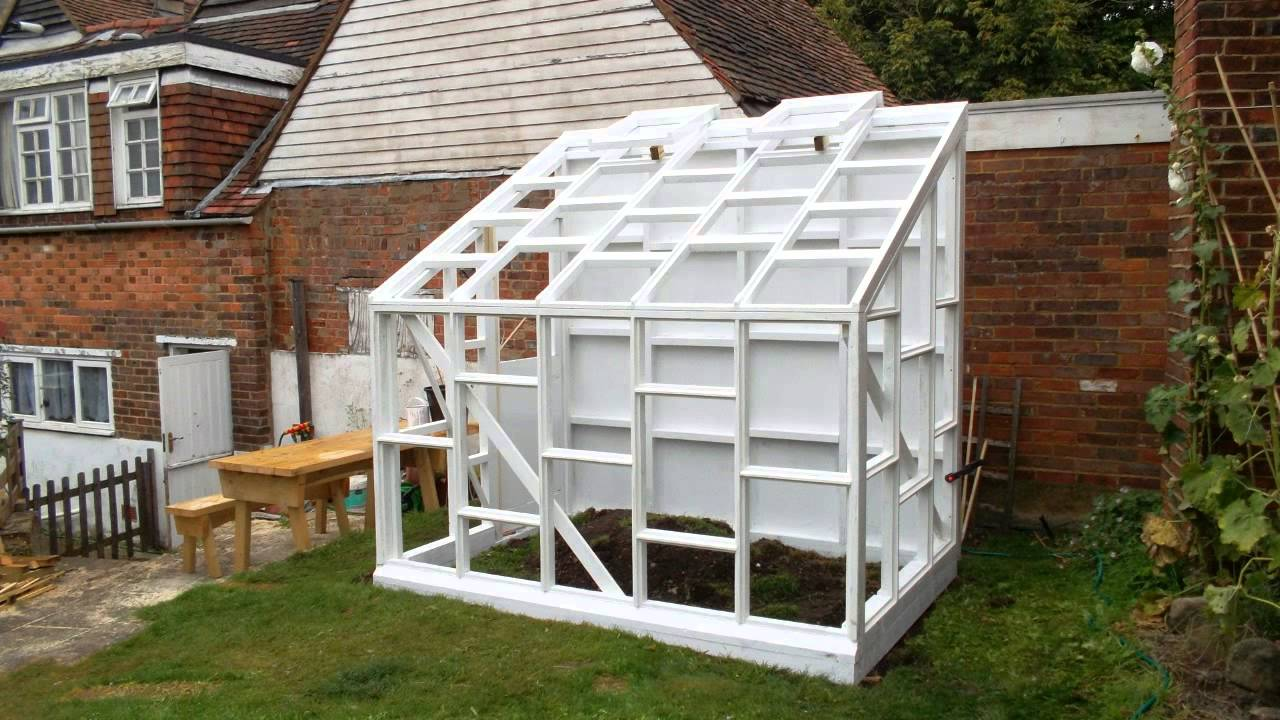 Building a glass walled wooden lean to greenhouse youtube solutioingenieria Gallery