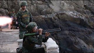 107年防衛性武器射擊 國造一式六六公厘戰防火箭 海域殲敵耀英豪,龍騰虎躍衛國疆
