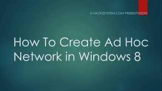 Wie Das Erstellen Von Ad-Hoc-Netzwerk In Windows 8