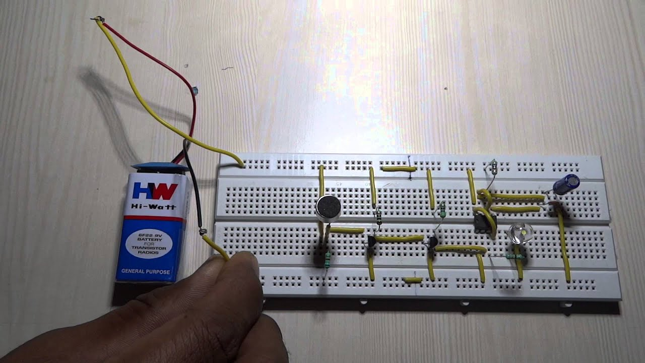 How To Make A Simple Clap Switch Circuit Youtube Electronic Schematics Other 7segment Display Counter Electronics Hub
