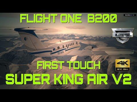 Flight 1 Super KingAir B200 V2 Flight Test P3D V.4.2 4K
