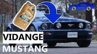 Mustang : Vidange moteur et filtre à huile