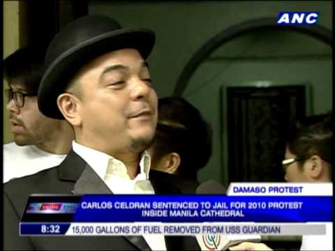 Celdran sentenced to prison for church protest