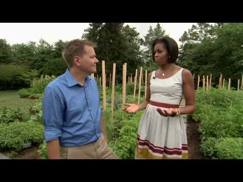 White House Garden Tour with First Lady Michelle Obama