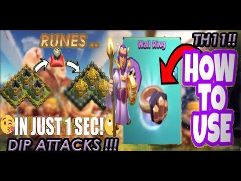 GOLD STORAGES FULL IN 1S !! RUNES OF GOLD & WALL RING EXPLANATION! DIP ATTACKS OF TH11 ACTION !!