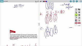 AÖ 10. Sınıf Matematik 3 Ders 1 Sayma