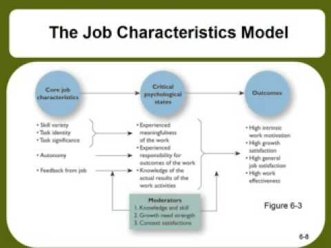 job characteristics model essay Hackman oldham proposed the job characteristics model, which is widely used as a framework to study how particular job characteristics impact on job outcomes, including job satisfaction the model states that there are five core job characteristics (skill variety, task identity, task significance.