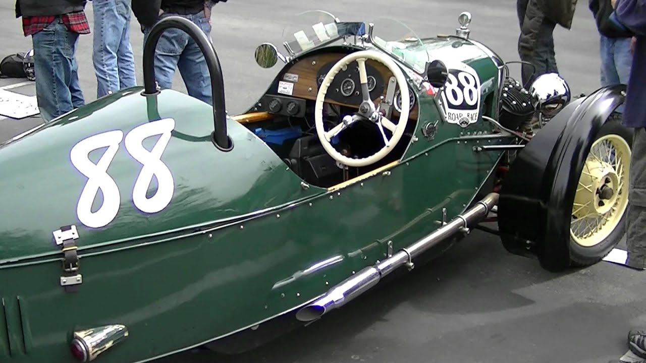 1934 Morgan J.A.P. V-Twin Powered 3-Wheel vintage Race Car - YouTube