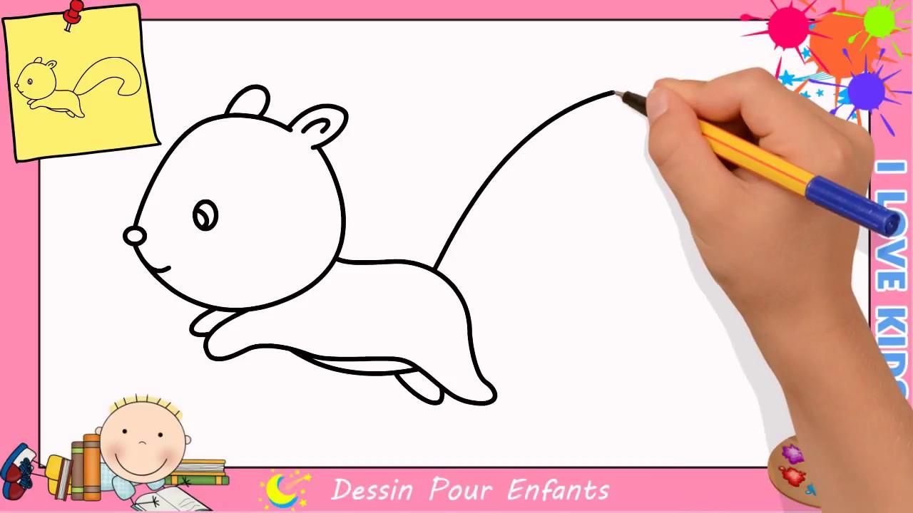 Comment Dessiner Un Ecureuil Facilement Etape Par Etape Pour Enfants