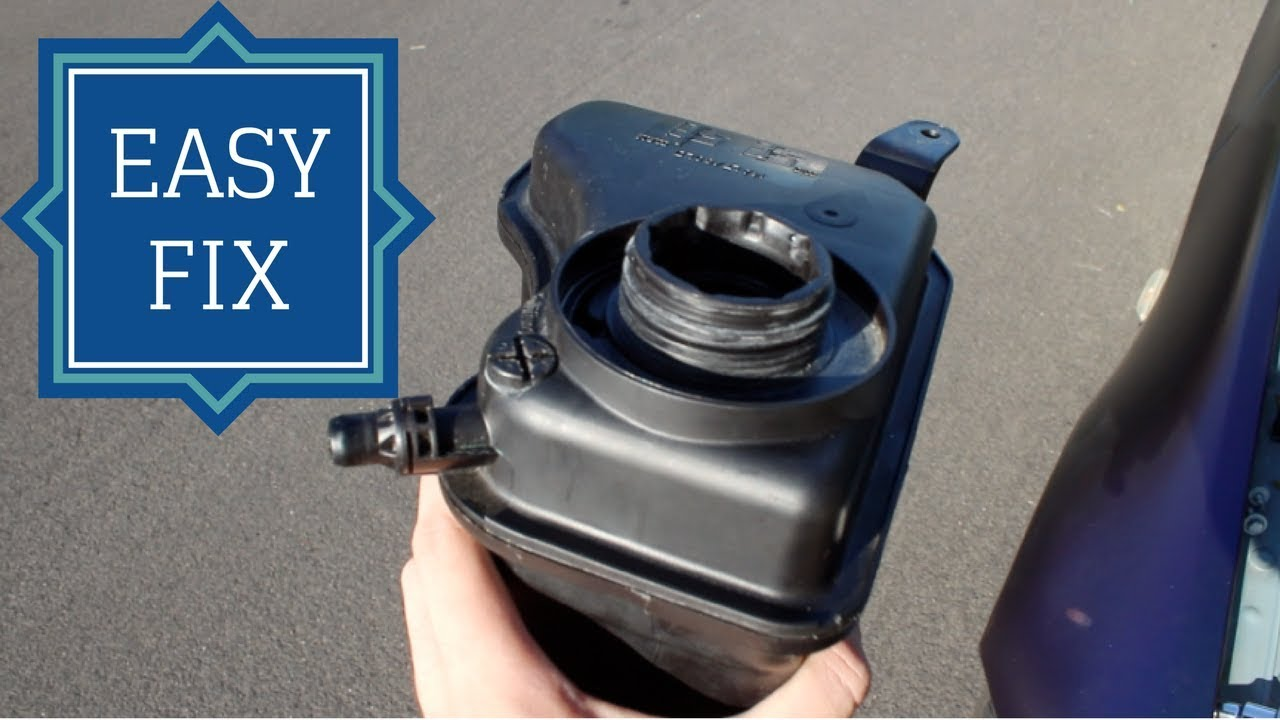 BMW COOLANT RESERVOIR TANK REPLACEMENT (FIX COOLANT LEAK)
