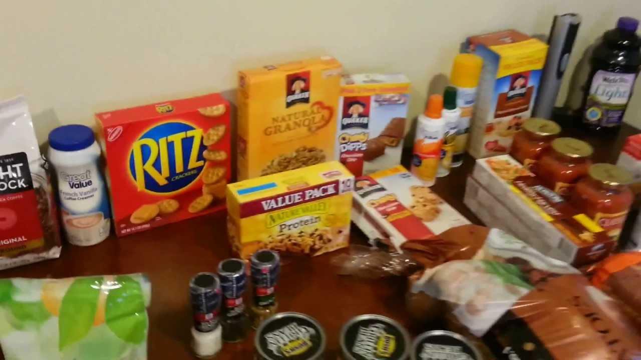 1 Food Supply For One Month Camping Trip Youtube