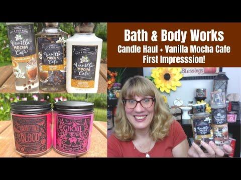 Bath & Body Works Candle Haul + Vanilla Mocha Cafe First Impression!
