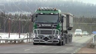 Scania R730 \8/ 8x4*4 - Route 395 Kaunisvaara to Pitkäjärvi