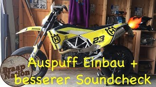 Sportauspuff umbau + fetten Soundcheck 😍 / Husqvarna 701 Vlog / Tutorial /Braap Nation