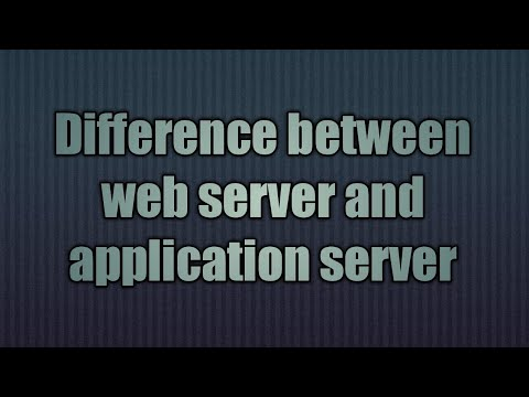 14.Difference between webserver and application server