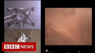 Nasa releases videos of its Perseverance rover landing on Mars - BBC News
