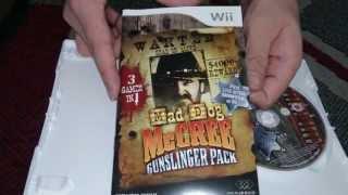 Nostalgamer Unboxes Mad Dog McCree Gunslinger Pack On Nintendo Wii System UK PAL Version