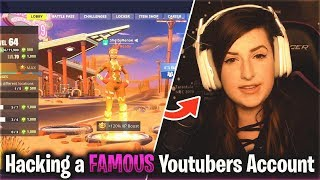 "So I Hacked a ""Famous YouTubers"" Fortnite Account..."