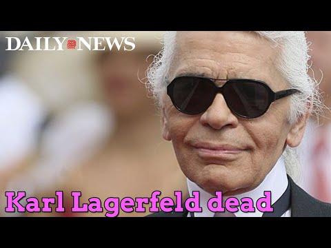 Karl Lagerfeld, fashion icon, dead