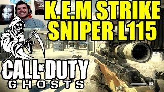 COD GHOSTS : K.E.M Strike au Sniper L115 Gameplay (MOAB 25 Killstreak) | SkyRRoZ