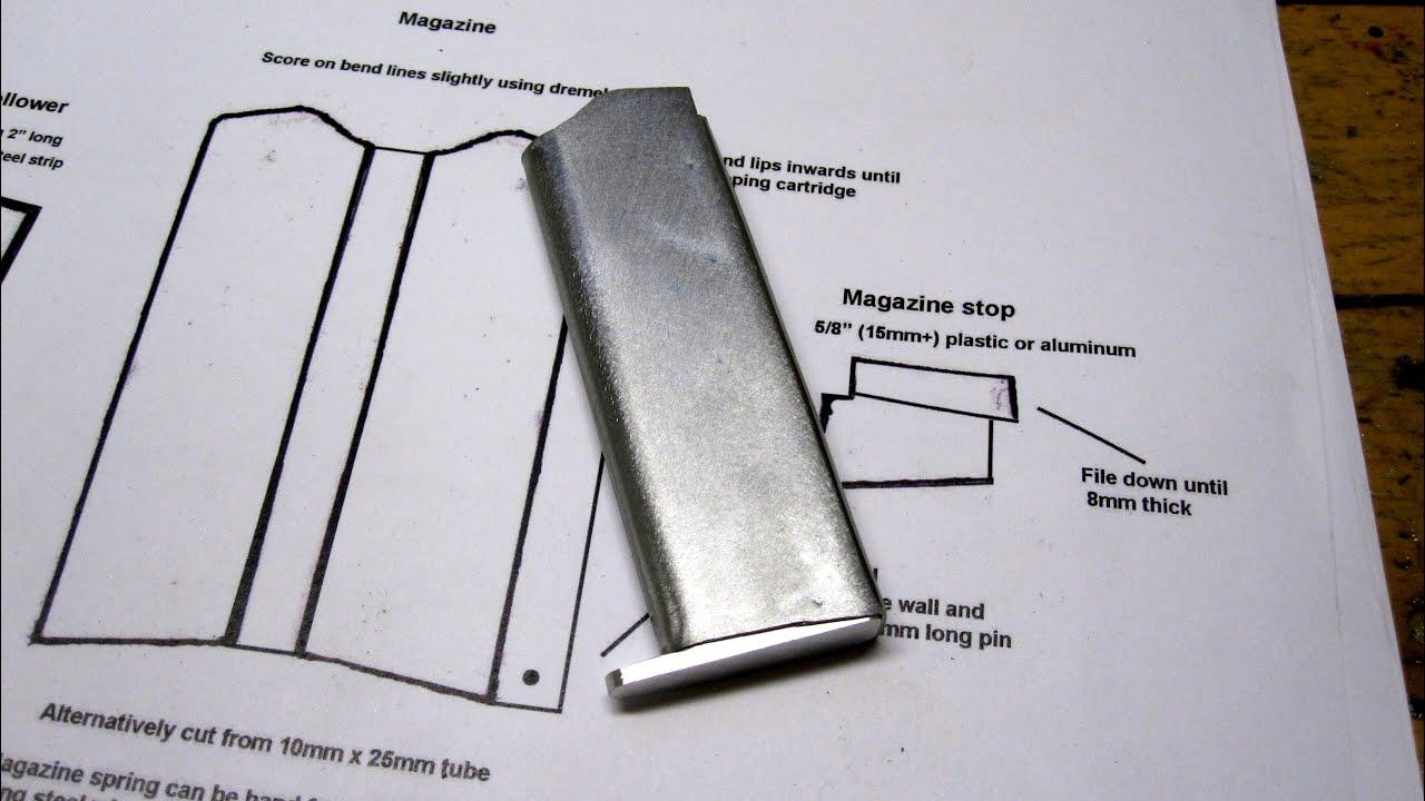 DIY Sheet Metal Self-Loading Pistol ... Episode I (the magazine ...