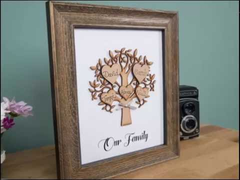 Personalised family tree frames