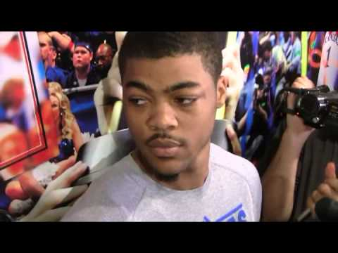 Kansas freshman Frank Mason talks about th...