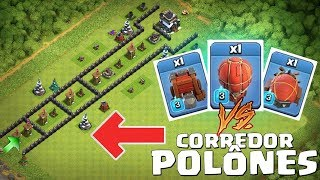 CORREDOR DA MORTE (Base Troll) vs MÁQUINAS DE CERCO FULL! QUEM VENCE? | CLASH OF CLANS