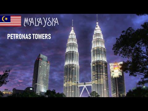 The Petronas Towers, also known as the Petronas Twin Towers in Kuala Lumpur, Malaysia