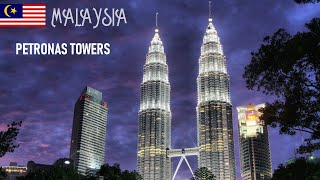 The Petronas Towers, also known as the Petronas Twin Towers in Kuala Lumpur, Malaysia