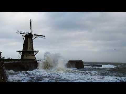 Harde woei in Vlissingen :-)