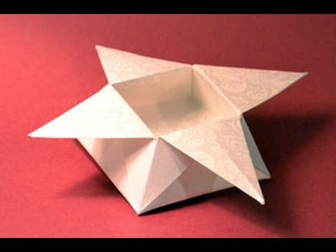 Origami Star Box Instructions: www.Origami-Fun.com - YouTube - photo#49