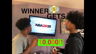 Played My Brother In 2k For 10,000 DOLLARS!! MUST WATCH!
