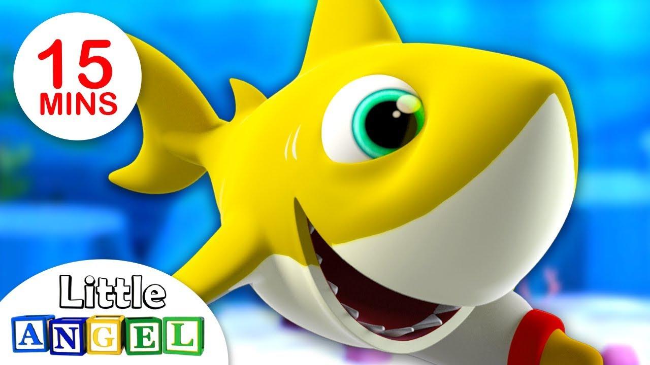 Especial Bebê Tubarão (Baby Shark) | Vídeos Infantis | Little Angel Português
