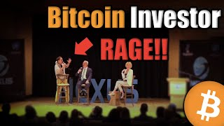 Yikes! Watch This Bitcoin Investor RAGE in Front of a Live Audience [Emotional]