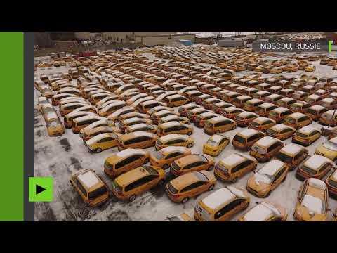 Le cimetière pour taxis de Moscou