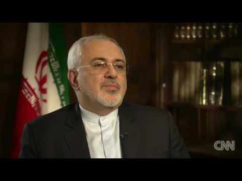 Iranian Foreign Minister Javad Zarif discussing Syria with CNN