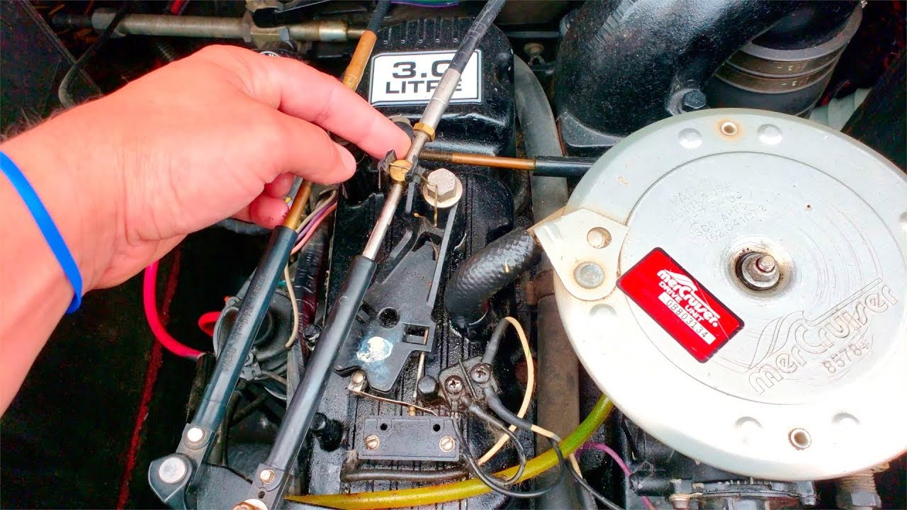 mercruiser not shifting dies when it shifts sticks into gear adjust [ 1280 x 720 Pixel ]
