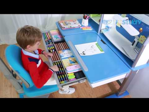 Istudy Z01 intelligent ergonomic children study table one minutes