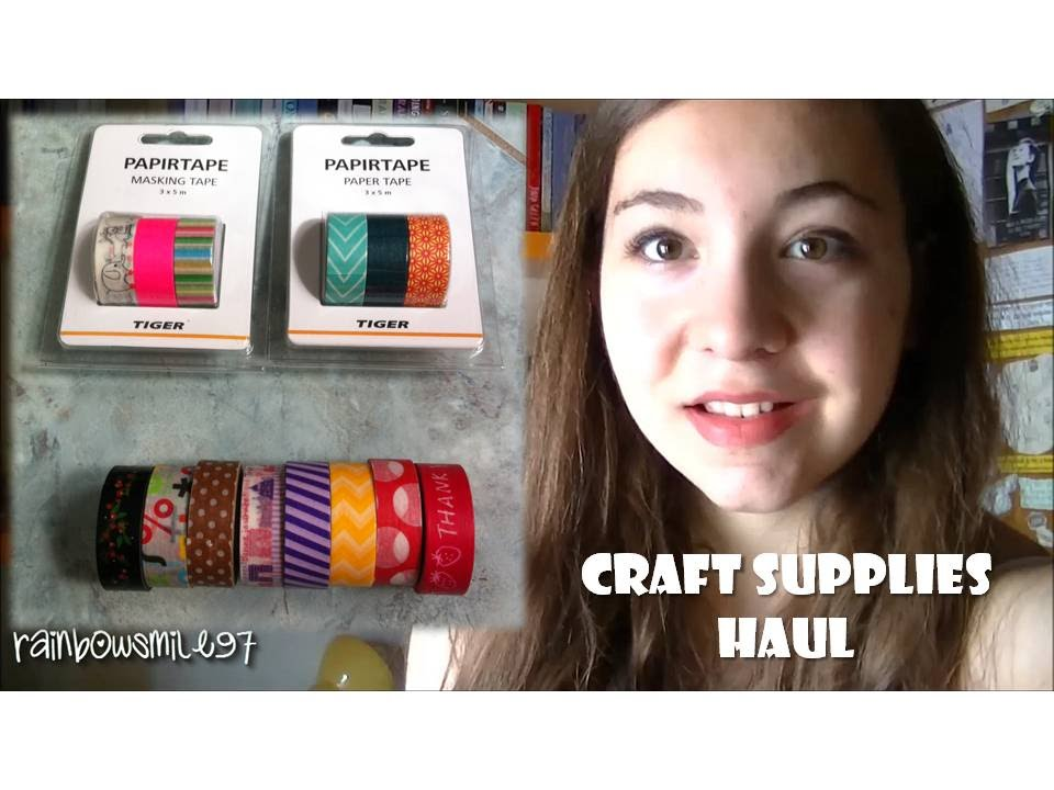 Craft Supplies Haul Washi Tape Tiger Scrapbooking And More