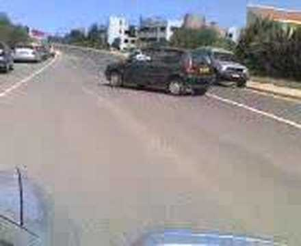 woman parking on cyprus roads