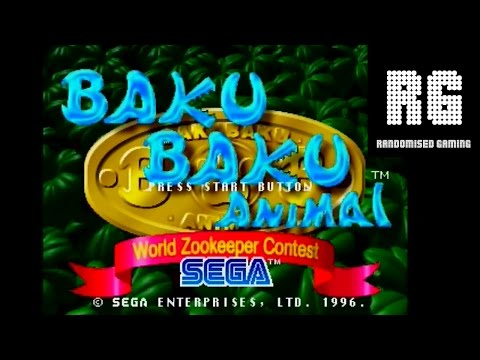 Baku Baku Animal : World Zookeeper Contest - Sega Saturn - Intro & Arcade Gameplay [720p]