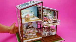 DIY Miniature Dollhouse Rooms Dream House