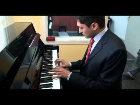 Chetan Acharya Playing Piano at The Academy of Western Music School