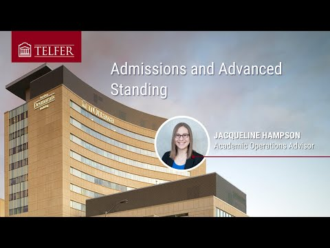 Admissions and Advanced Standing