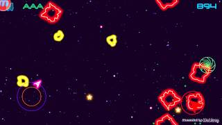 Game GLOW ASTEROIDS!!!