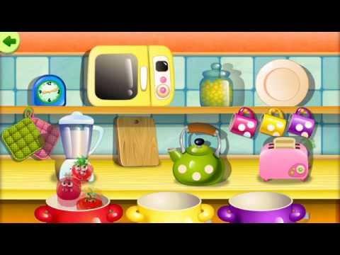 1. Funny Food: Kindergarten Education (EN) (old) / English Games